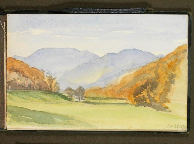 Master: Queen Victoria's Sketch Book 1872-3 Item: A Highland landscape