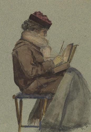 Master: Album belonging to Princess Louise Item: A female figure painting