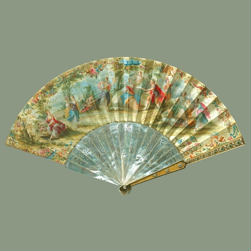 Fan depicting 'Bacchus and Ariadne'