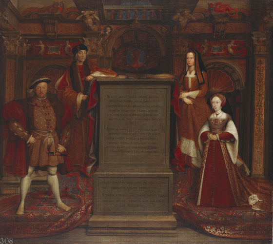 Henry VII, Elizabeth of York, Henry VIII and Jane Seymour