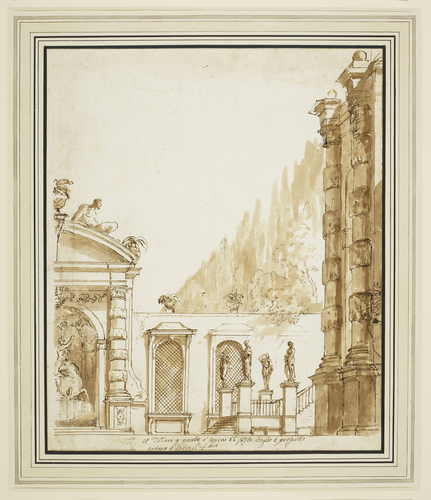Fountain and steps of a villa