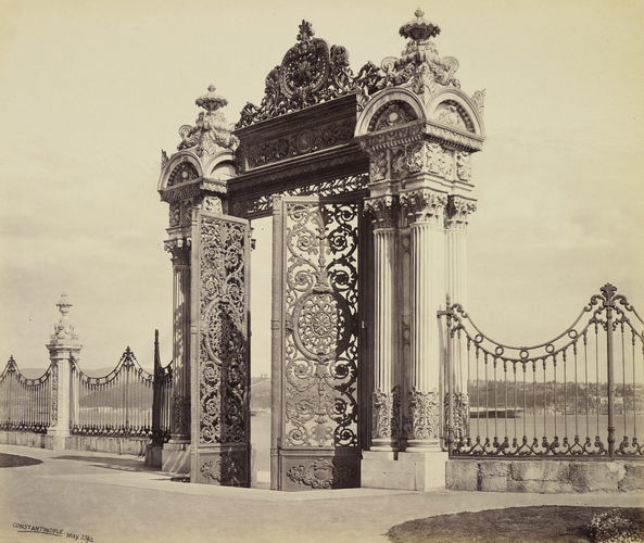 The New Palace, the River Gate [Dolmabahce Palace. Istanbul, Turkey]