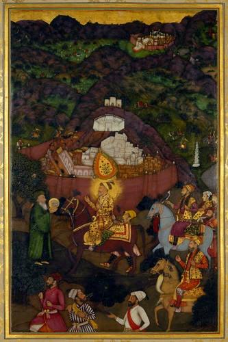 Master: The Padshahnama Item: Shah-Jahan visits the shrine of Khwaja Mu'inuddin Chishti at Ajmer (November 1654)