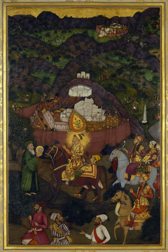 Master: The Padshahnama Item: Shah-Jahan visits the shrine of Khwaja Mu'inuddin Chishti at Ajmer (November 1654)