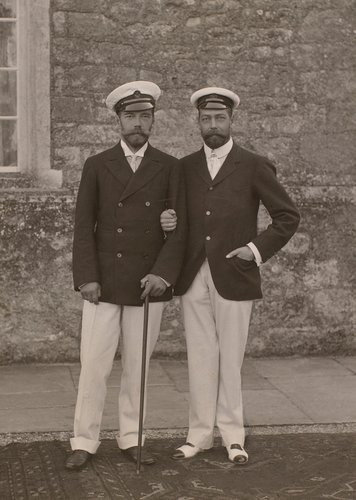 Emperor Nicholas II of Russia (1868-1918) and George, Prince of Wales (1865-1936)