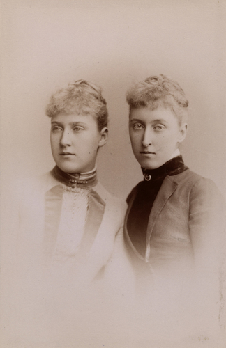 Princess Helena Victoria and Princess Marie Louise of Schleswig-Holstein, 1887 [in Portraits of Royal Children Vol. 36 1887-1888]