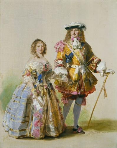Queen Victoria (1819-1901) and Prince Albert (1819-1861) in costumes of the time of Charles II