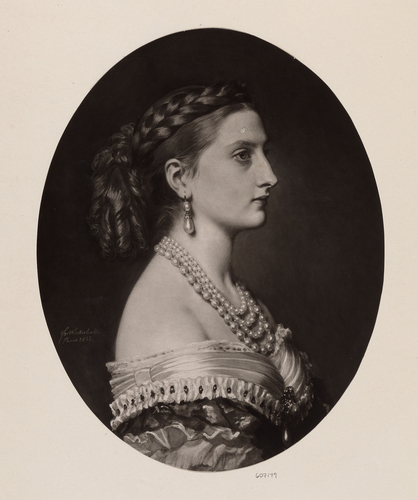 Stephanie, Princess of Hohenzollern-Sigmaringen (?) OR Marie Louise, Countess of Flanders (?) Wife of Philippe, 4th Son of Leopold I of Belgium OR Princess Antonia de Braganca of Portugal, later Princ