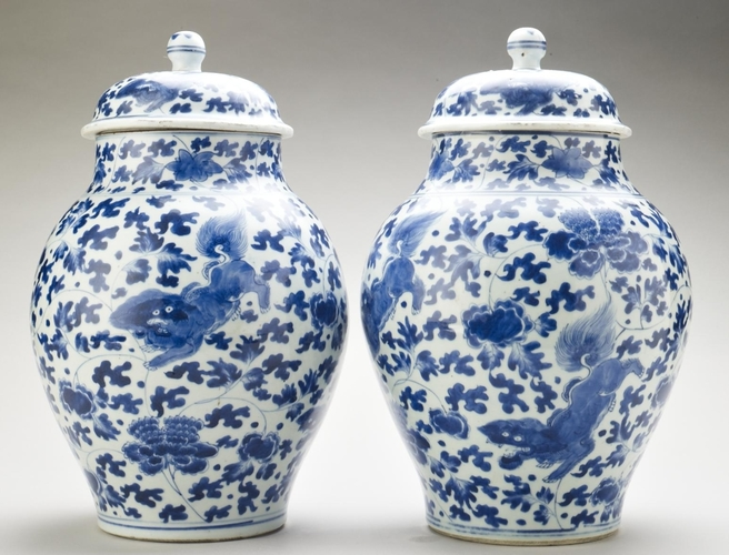 Master: Pair of jars and covers