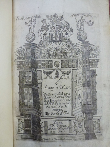 The Academy of armory, or, a storehouse of armory and blason / Randle Holme