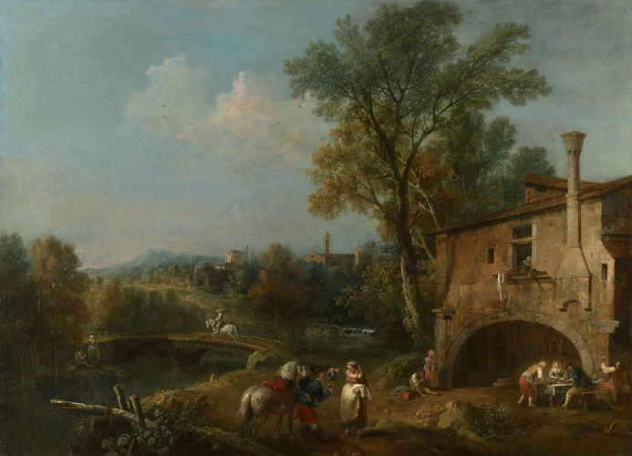 Landscape with a Wayside Tavern