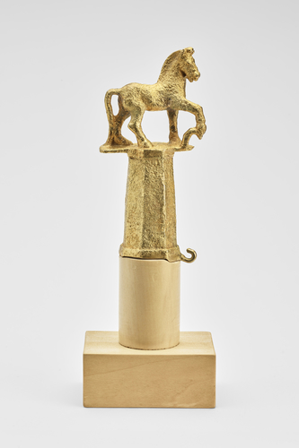 Standard finial in the form of a horse
