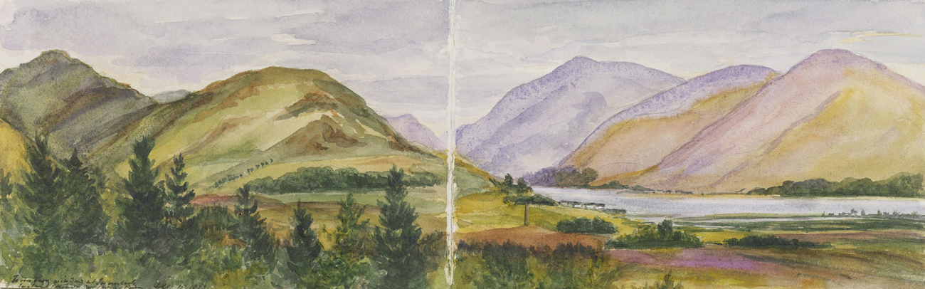Master: SKETCHES BY QUEEN VICTORIA II Item: Pce. Charles Edward's Moument Glenfinnan