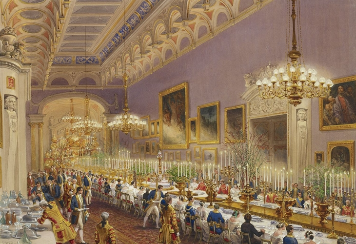 The banquet for Prince Leopold's christening, 28 June 1853