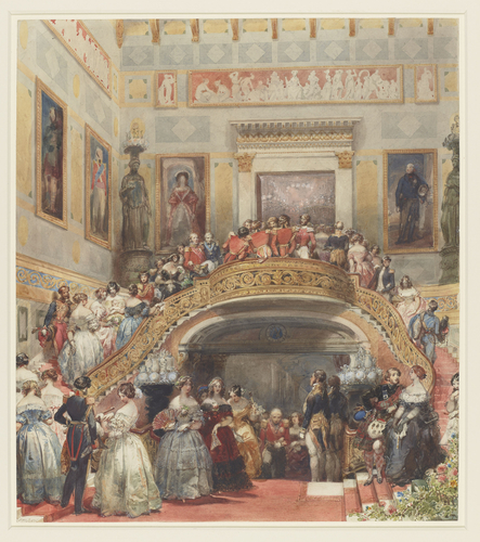 The Grand Staircase at Buckingham Palace, State Ball, 5 July 1848