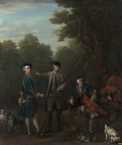 The Shooting Party: Frederick, Prince of Wales with John Spencer and Charles Douglas, 3rd Duke of Queensberry