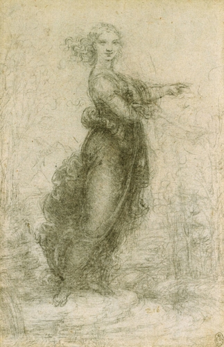 A woman in a landscape