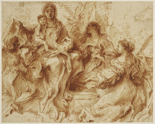 The Virgin and Child with Saints Catherine and Mary Magdalene