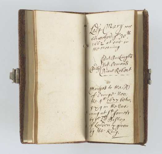 Family note book of James, Duke of York (later James II) giving details of his children born between 1662 and 1677. []
