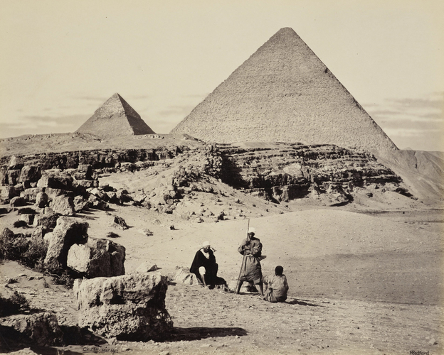 Pyramids of Cheops and Cephrenes [The Great Pyramid and the Pyramid of Khafre, Giza]