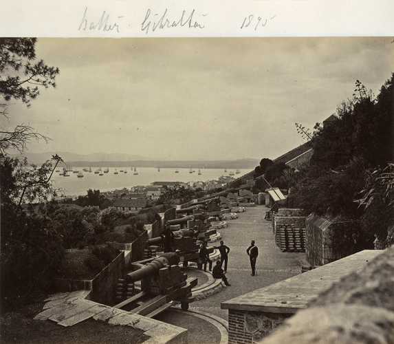 Battery, Gibraltar, 1875. [Album of HRH The Duke of Connaught; military photographs, c. 1855-1895]