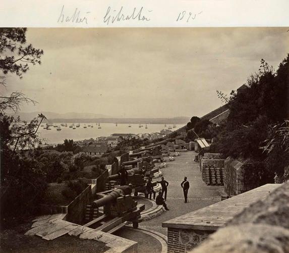 Battery, Gibraltar, 1875. [Album of HRH The Duke of Connaught; military photographs, c. 1855-1895]