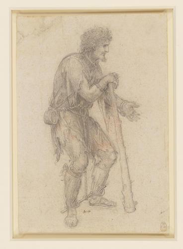 Recto: A costume study of a prisoner. Verso: A nude male figure