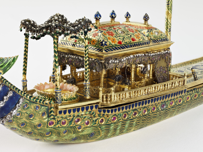 Peacock barge inkstand