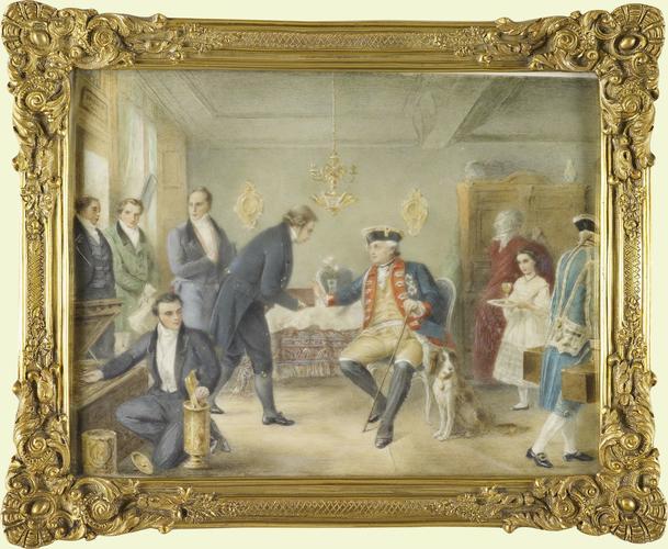 The visit of the Elector of Hesse to Amschel Mayer de Rothschild (1773-1855)