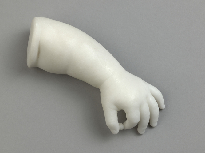 Left arm and hand of Princess Louise