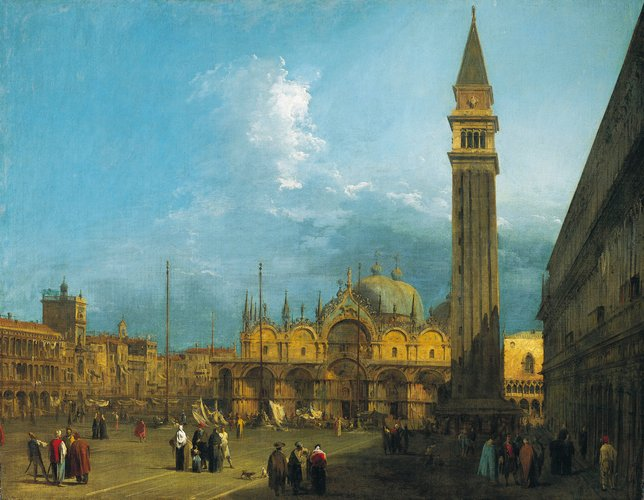 Piazza San Marco looking East towards the Basilica and the Campanile