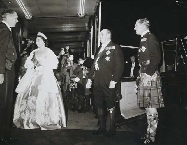 King Olav V of Norway on State Visit to Britain