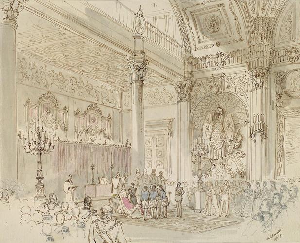 Брак Альфреда, герцога Эдинбургского и великой княгини Российской Марии Александровны, Санкт-Петербург, 23 января 1874: Англиканская церемония