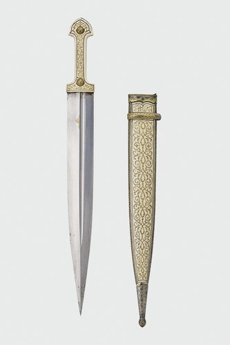 Dagger, knife and scabbard
