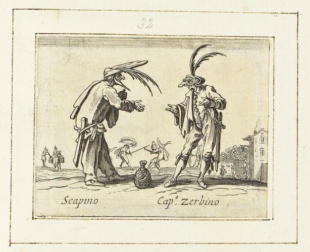 Master: Balli di Sfessania Item: Scapino and Capitano Zerbino