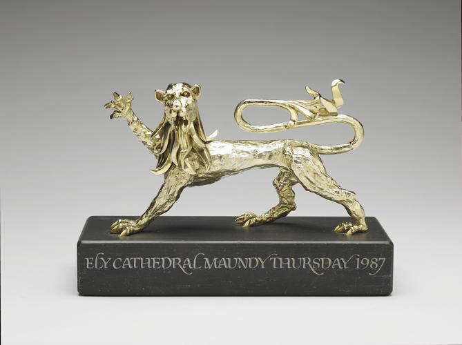 Silver lion rampant