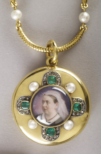 Locket with a miniature of Queen Victoria (1819-1901)