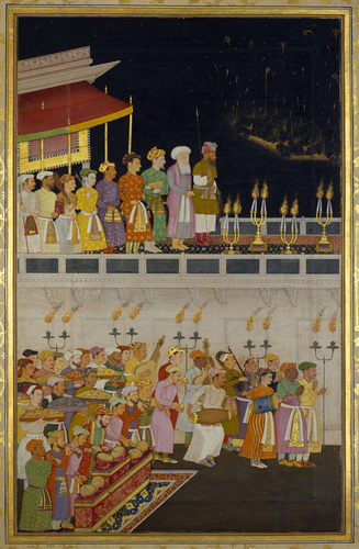 Master: The Padshahnama Item: Shah-Jahan honouring Prince Dara-Shikoh at his wedding (12 February 1633) / Bulaqi, son of Hoshang