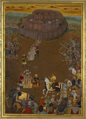 Master: The Padshahnama Item: The Surrender of the fort at Udgir to Khan Dawran (October 1636)
