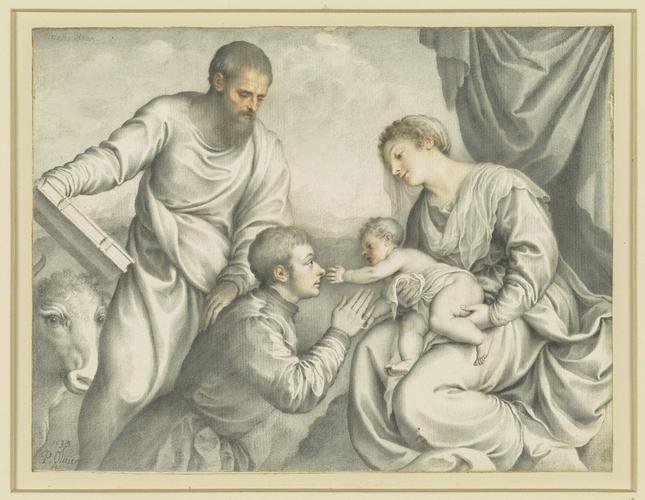 St Luke preferring a Genoa Gentleman to Christ