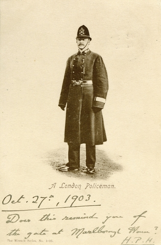 Postcard of a London Policeman