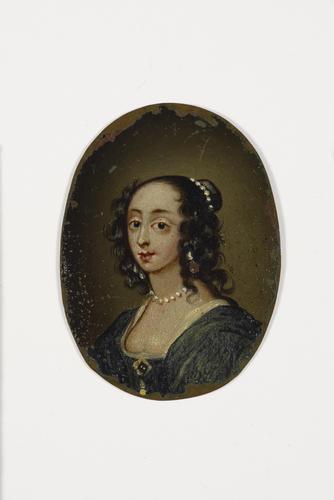 Master: Set of mica overlays and miniature of Henrietta Maria (1609-1669) Item: Portrait of Henrietta Maria