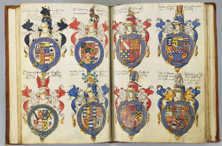 Dethick (Sir Gilbert) register of the Order of the Garter