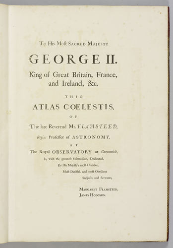 Atlas Coelestis / by the late Rev. Mr. John Flamsteed