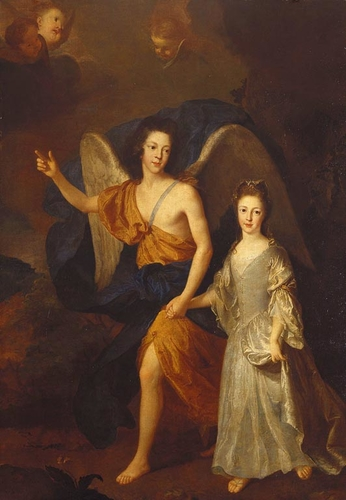 Prince James Francis Edward Stuart with his sister, Princess Louisa Maria Theresa