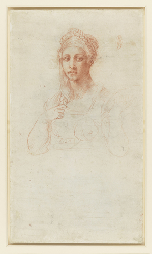Recto: The Fall of Phateon. Verso: a woman and a study for an ear