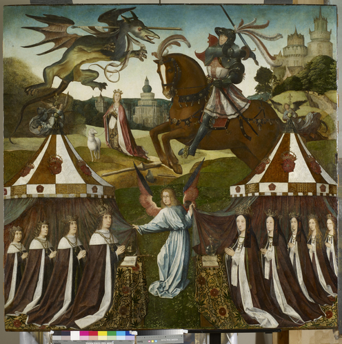 The Family of Henry VII with St George and the Dragon