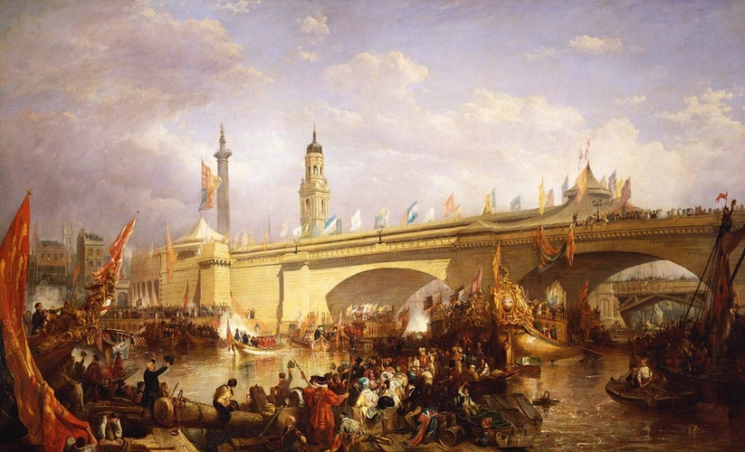 The Opening of New London Bridge, 1 August 1831