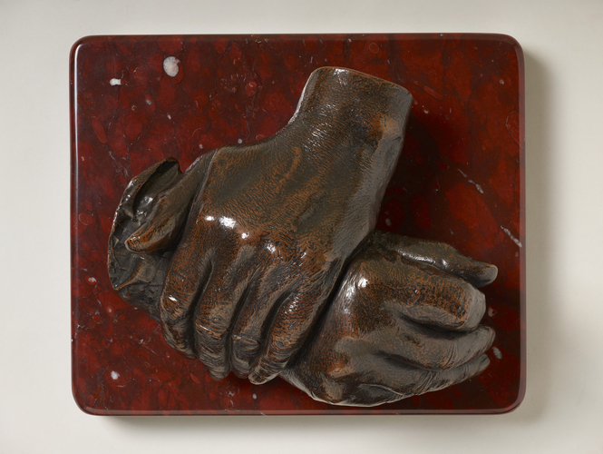 The hands of the Duke of Wellington