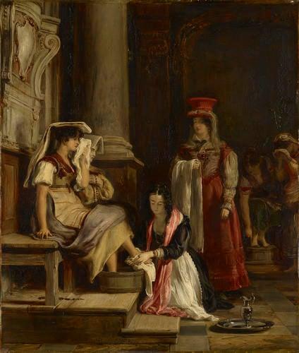 A Roman Princess Washing the Feet of Pilgrims